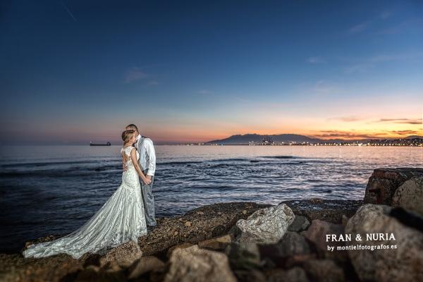 fotografo de boda en Málaga, fotografos de boda, fotografos de boda en Málaga, fotografos de Málaga, fotografos de malaga, fotografia nocturna, atardecer en malaga
